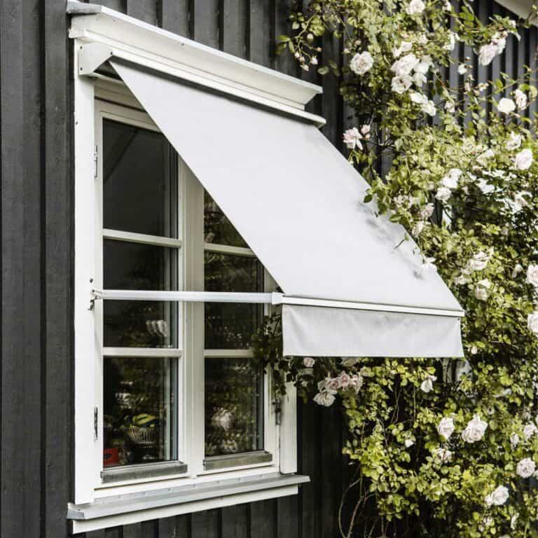 Fönstermarkiser och montering av solskydd